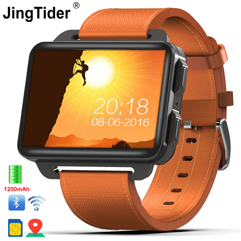 DM99 Android 3G Smart Watch 1200mAh Battery 1GB/16GB MTK6580 Quad Core Smartwatch 2.2 IPS Heart Rate Monitor Camera Wifi GPS alloyseed dm99 smartwatch android 5 1 2 2in 1gb 16gb quad core heart rate 3g calling wifi bluetooth gps 1 3mp camera smart watch