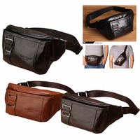 For Iphone X Genuine Leather Pouch Case, Waist Pack Men Bum Bags Hip Money Belt Travel For 6s 7 8 Plus X XS 5C 5S MAX XR Phone