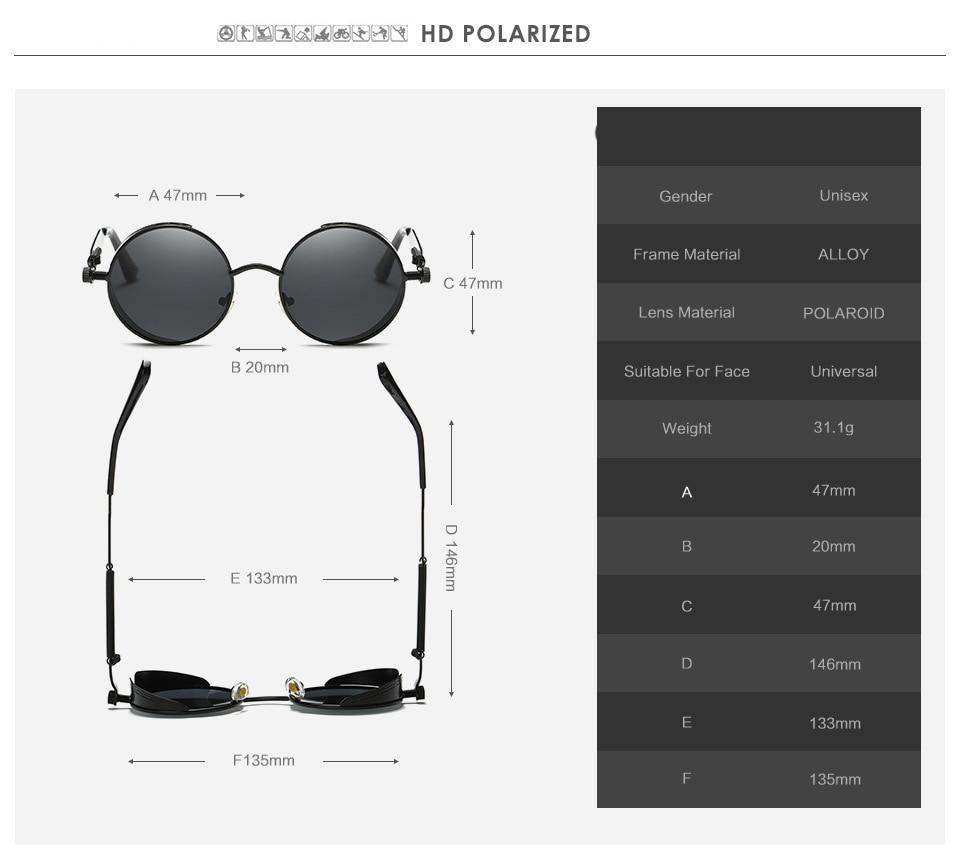 Gold Retro Metal Polarized Sunglasses 4