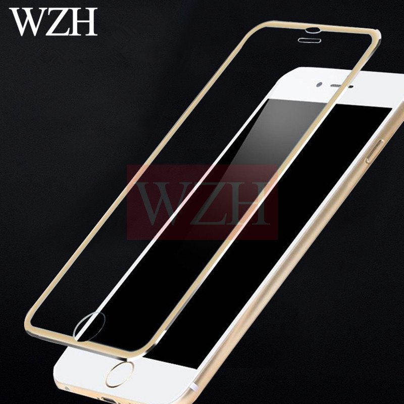 3D Aluminum Tempered Glass For iPhone 7 8 Plus X 9H Full Cover Alloy Frame Protective Film For iPhone 5 5S 5C SE 6 6s Round Edge(China)