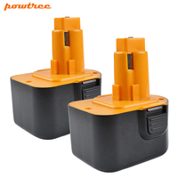 Powtree for black & decker firestorm 12 v 3000 mah ps130 전동 공구 배터리 교체 가능 ps130a a9275 a9252 hp331 HP331K-2 hp331k2