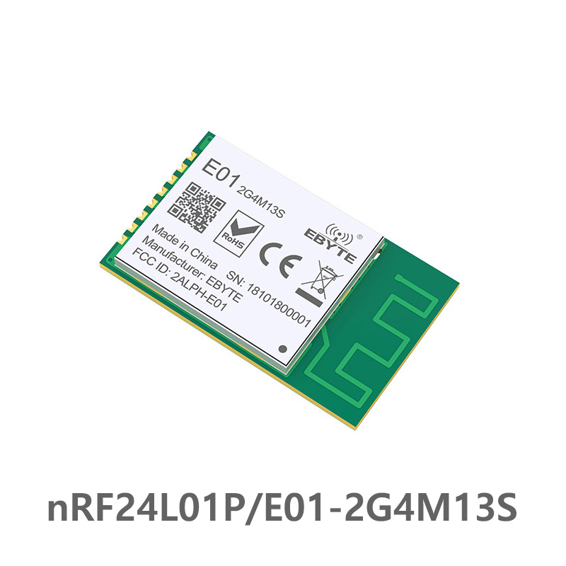 E01-2G4M13S nRF24L01 PA LNA <font><b>2.4</b></font> <font><b>ghz</b></font> 13dBm Wireless SPI 2.4GHz ebyte nRF24L01P rf Wireless <font><b>Transmitter</b></font> and Receiver PCB Antenna image