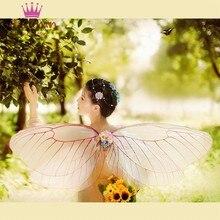 Wróżka Elf księżniczka anioł skrzydła motyla dla kobiet dziewczynki impreza z okazji Halloween Cosplay kostiumy występ na scenie fotografii