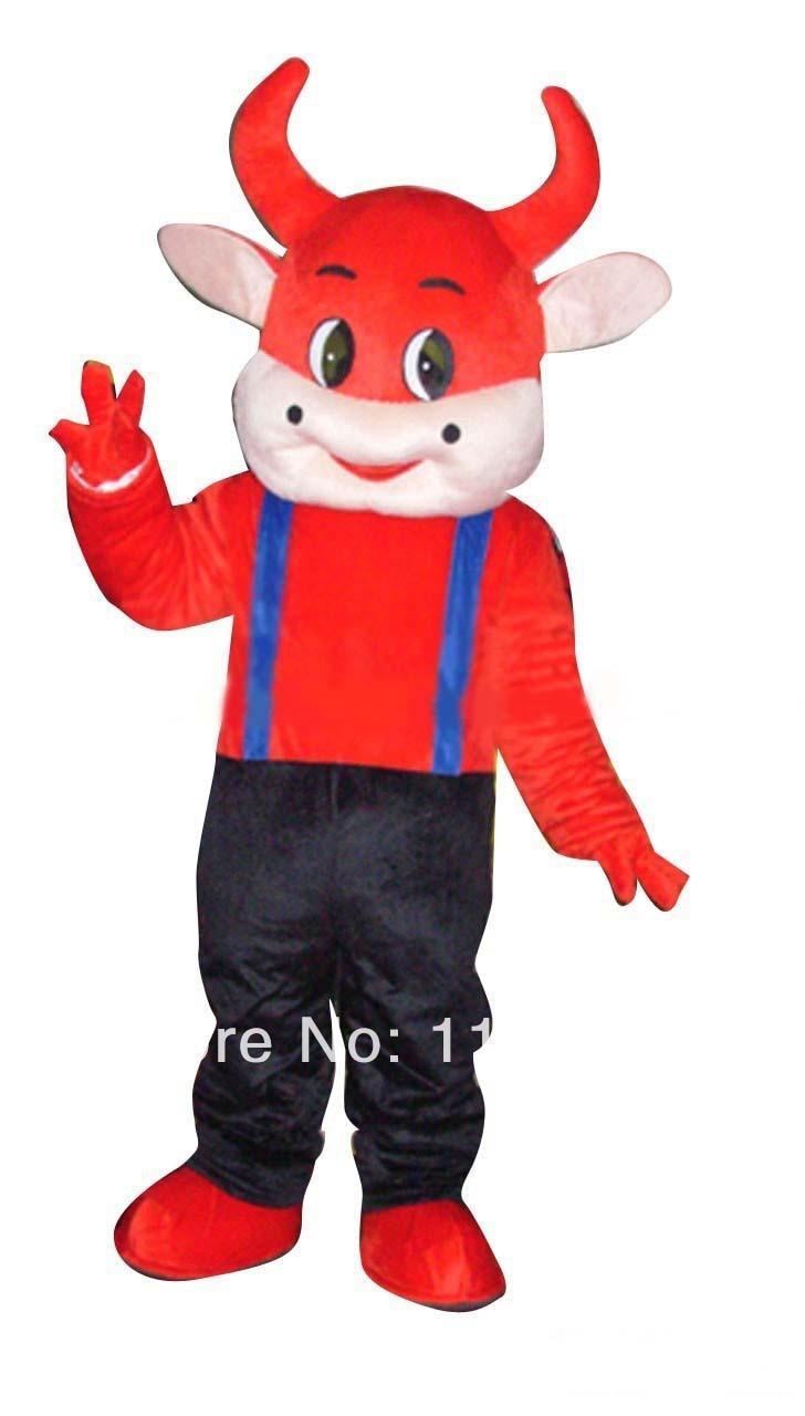 Affidabile Mascotte Red Cow Costume Della Mascotte Di Fantasia Personalizzata Costume Anime Cosplay Mascotte Tema Fancy Dress Costume Di Carnevale Mc60041 Evidente Effetto