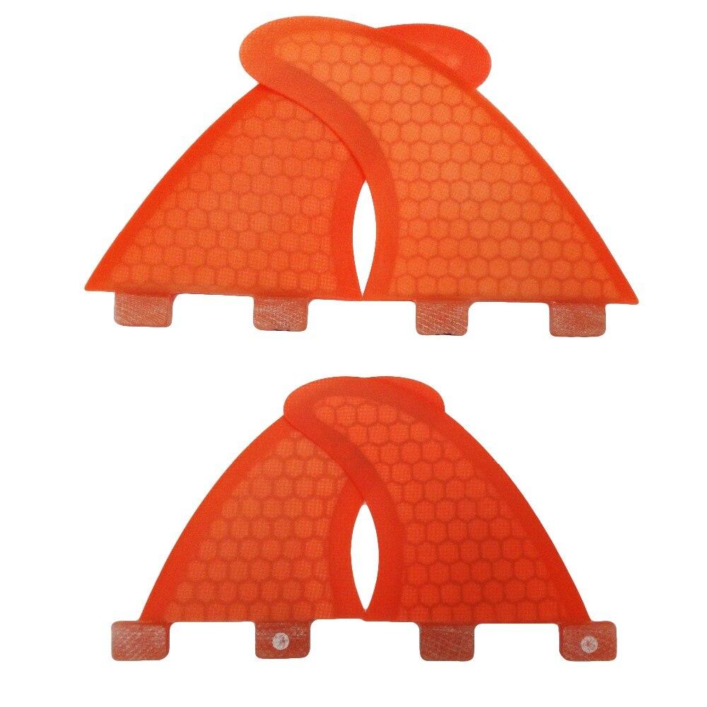 Nouveau Design FCS Ailerons Quad SUP Planche De Surf FCS G3 + GL Fin Nid D'abeille FCS Fin Quilhas Dans Le Surf