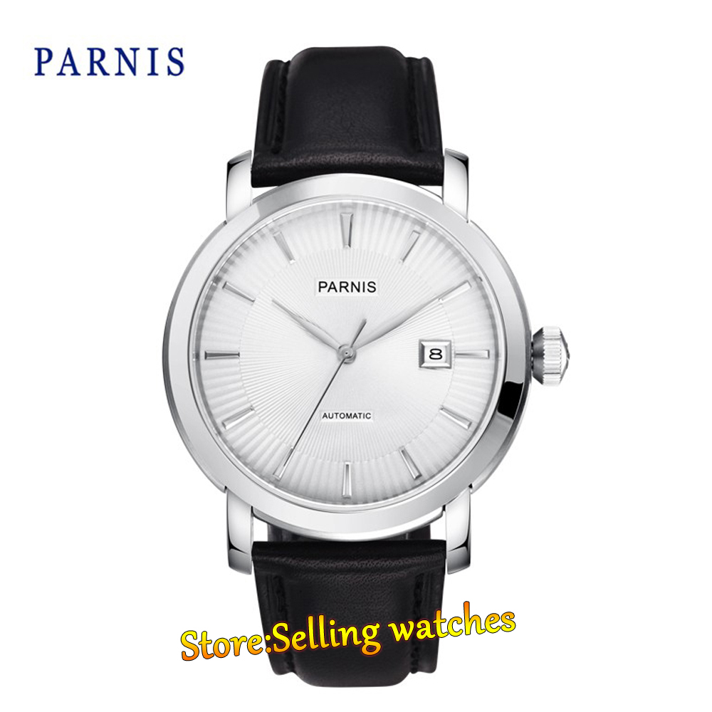 Parnis 42mm 21 Jewels Japan Miyota Automatic Movement Date Business Men's Watch 2pm junho japan solo album feel 5 postcards lyric booklet release date 2014 08 19 kpop
