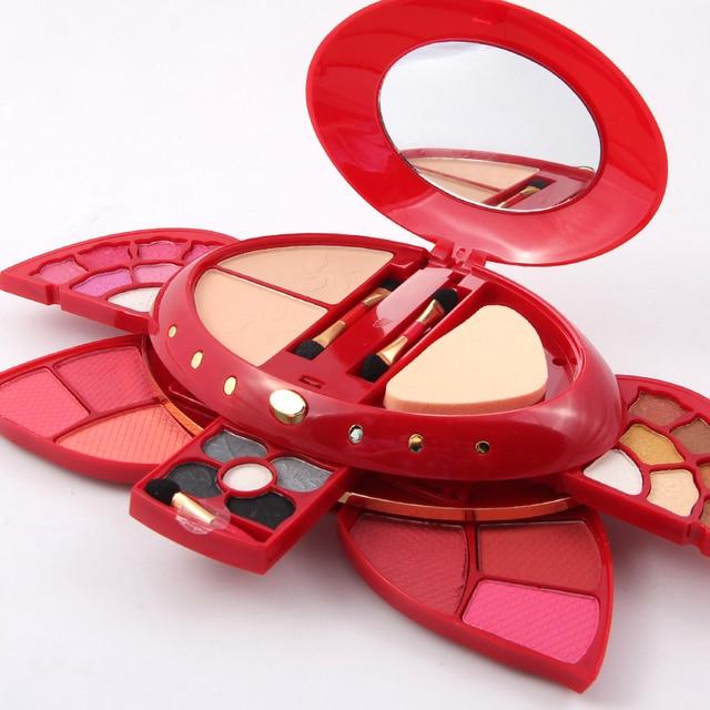 MISS ROSE Academy Make-up Palette Set Eyeshadow Compact Powder Blusher Make-up Set Kit Shiny Wet Eye Shadow 7002-166Y