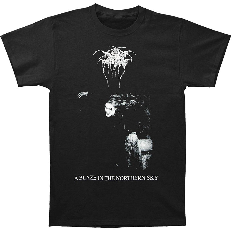 Темные престол Для Мужчинs Blaze в Северном Sky T-shirt черный