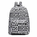 2017 Korean style fashion kpop black canvas bigbang fans bagpack G-dragon punk rock backpack school bag for teenager girls XJ366