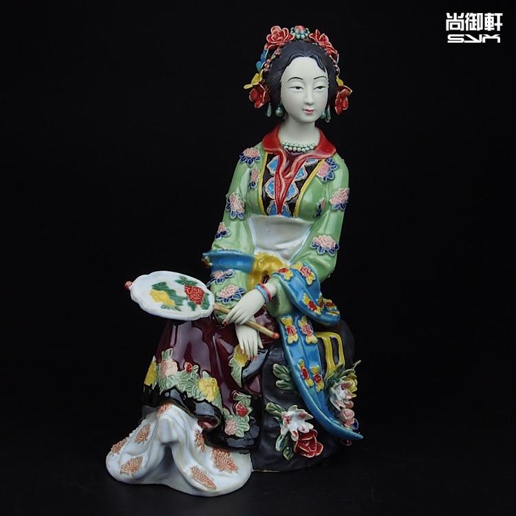Shiwan bambola maestro di multa antichi caratteri di un sogno di Red Mansions dodici bellezze qinkeqing ornamenti di ceramica di artigianatoShiwan bambola maestro di multa antichi caratteri di un sogno di Red Mansions dodici bellezze qinkeqing ornamenti di ceramica di artigianato