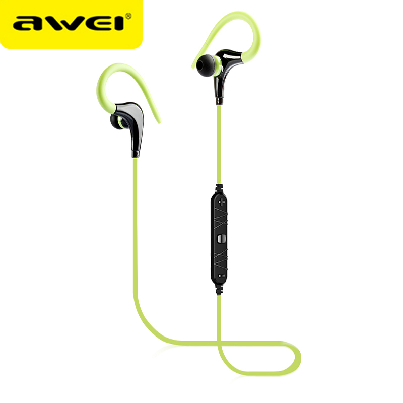 Awei A890BL Casque Wireless Headset Bluetooth Earphone With Mic Hi-Fi Sound Stereo Sports Running Headphone For iPhone Android new dacom carkit mini bluetooth headset wireless earphone mic with usb car charger for iphone airpods android huawei smartphone