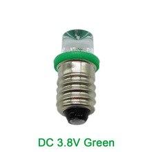 E10 Винт Лампочка Зеленый LED Инструкция Лампа Студенческий Эксперимент Light Ball 3 В 3.8 В 10 шт.