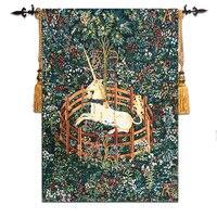 58*80 cm Diseño Unicornio Tapices De Pared Foto Pared de Tela Colgando Decoración Marroquí Gobelino Bélgica Paño de Pared Tapices Medievales