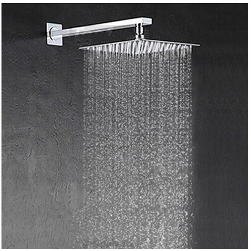 Free Shipping 25cm * 25cm Square Stainless With Arm Ultra Thin 10 Inch  Showerheads With Pipe Rainfall Shower Head.Rain Shower.