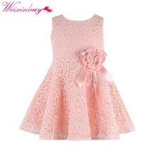 Summer Princess Dresses Toddler Baby Girl Kids Lace Floral Dress Party Vestido Girls