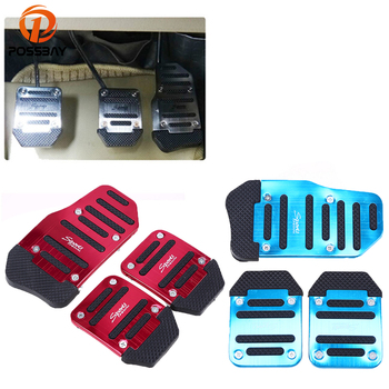 POSSBAY -94% OFF Manual Transmission Aluminum Car Accelerator Pedals Brake Pedal Clutch Pedals for Honda BMW VW Foot Pads