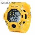 CocoShine A-822 мужские Кварцевые Цифровые Спортивные Часы Военные Силиконовые Водонепроницаемые Наручные Часы Дети часы оптом