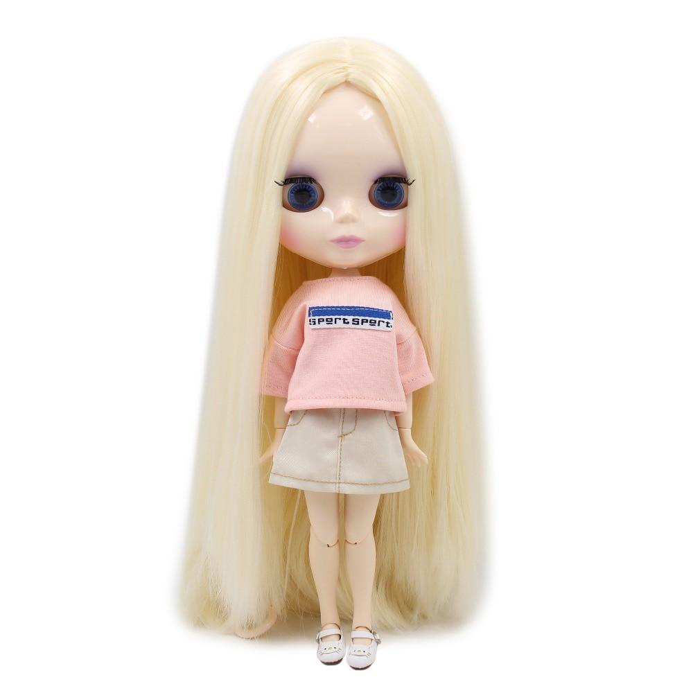Usine BLYTH POUPÉE bjd BL0510 D'OR crème ivoire blanc cheveux certra partie longue ligne droite cheveux 1/6 30 cm