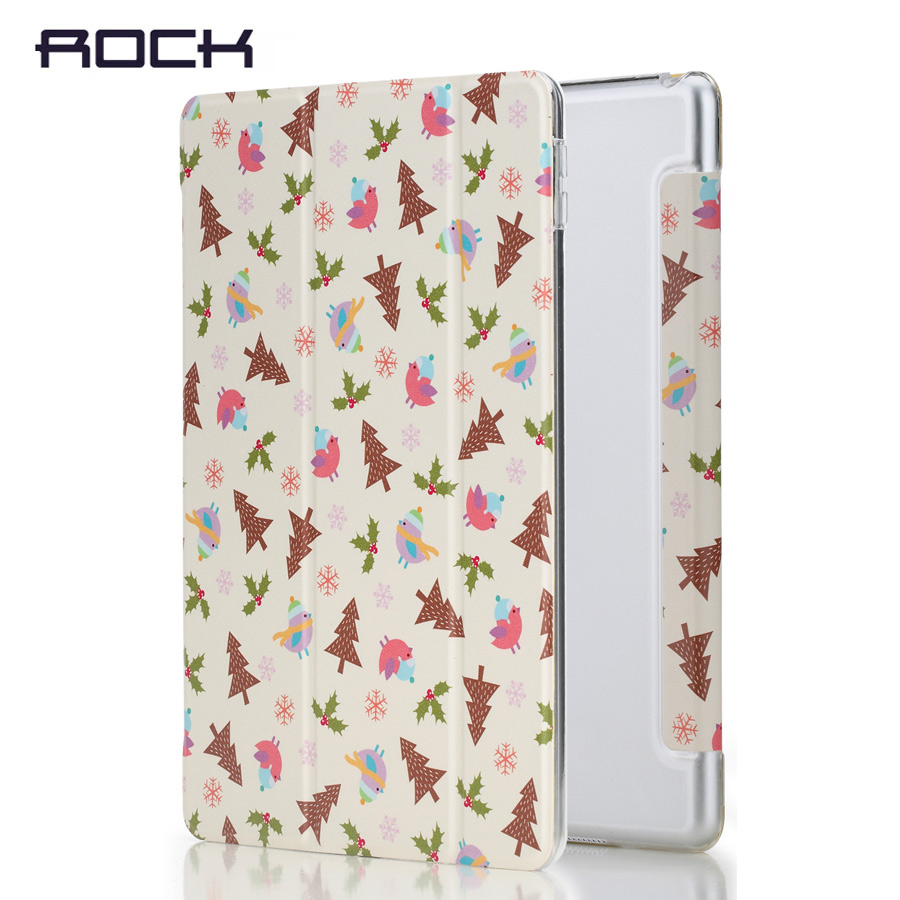 Rock PU cartoon Leather Case for ipad 2017 Cover Auto Sleep&Wake Magnetic Tablet Stand Case Soft TPU Back Cover Anne's Garden for ipad pro 9 7 5 shapes smart case soft tpu back case slim pu leather magnetic cover for ipad 7 air 3 auto sleep wake a66