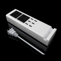 US UK EU Plug Sockets Universal 6 USB Charger Ports Power Travel Adapter Strip Switch Socket