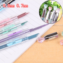 4 bottle/lot Mechanical Pencil Refills 0.5/0.7mm 2B Lead Grey Writing Cute Refill for Automatic Pencil Office School Supplies 1pc zebra p ma85 delguard automatic mechanical pencil prevents lead breakage 0 5mm japan with erase 6 body colors for choose