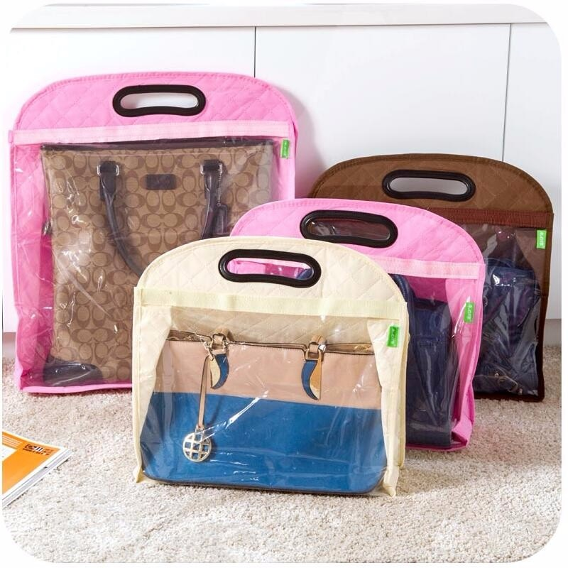 100pcs S M L Keep Clean Handing Storage Dust Cover Bag No-woven Fabric Handbag Closet OrganizerMylar Bags ZA0753