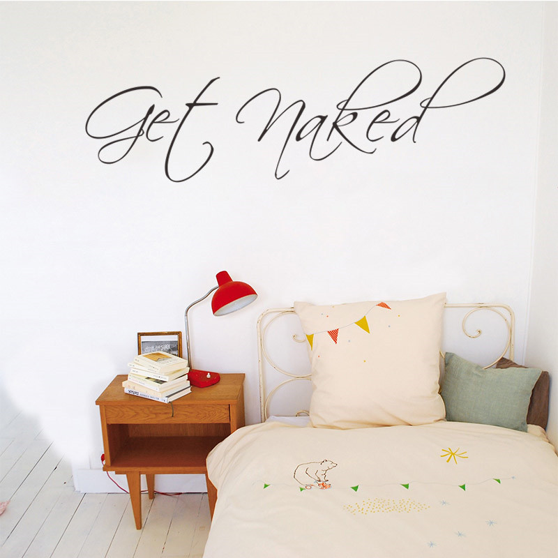 Aliexpress.com : Buy Get Naked Saying Quotes Bathroom Lettering Words Wall  Sticker Waterproof Vinyl Adhesive Art Decor Wall Decal Window Glass Decor  From ... Part 65