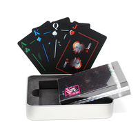 New Arrive Tinplate Metal Box Waterproof PVC Poker Playing Cards Novelty High Quality Collection Board