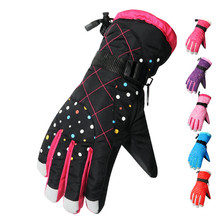 5 Colors Women Winter Thermal Waterproof Ski Snowboard Gloves Snowmobile Sports Gloves Motorcycle Driving Gloves