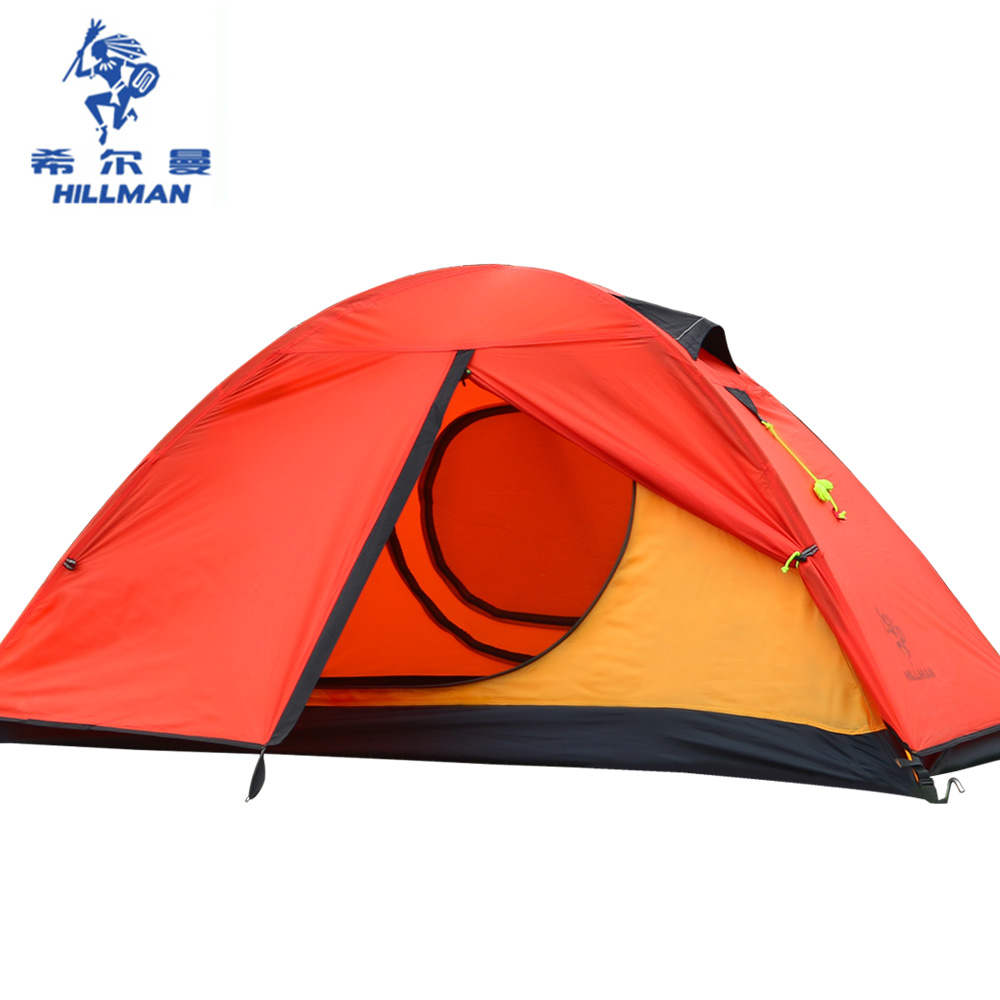 Hillman 1 Person Ultralight 20D Silicon Coated Aluminum Rod Hking Cycling Mountaineering Beach Fishing Outdoor Camping Tent hillman 3 4 person double layer ultralight silicon tent 2d silicone coated nylon waterproof aluminum rod outdoor camping tent