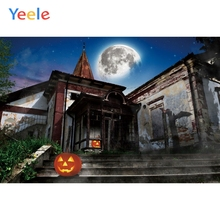 Yeele Halloween Festival Party Grunge Castle Pumpkin Photography Backdrop Personalized Photographic Backgrounds For Photo Studio