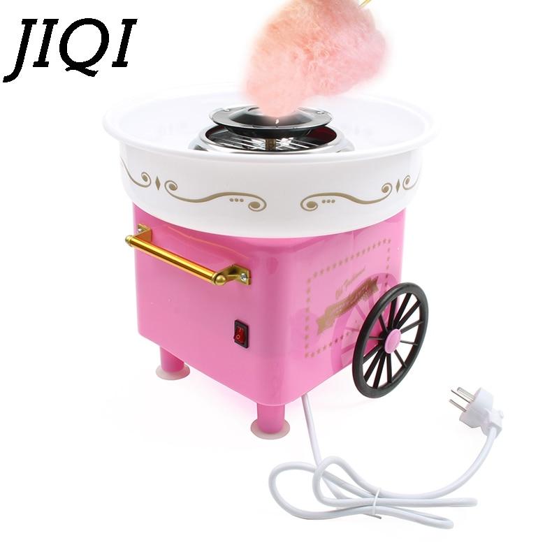 JIQI Electric DIY Sweet Cotton Candy Maker Mini Portable Fancy Sugar Floss Marshmallow Machine 450W Kids Gifts Party EU US Plug