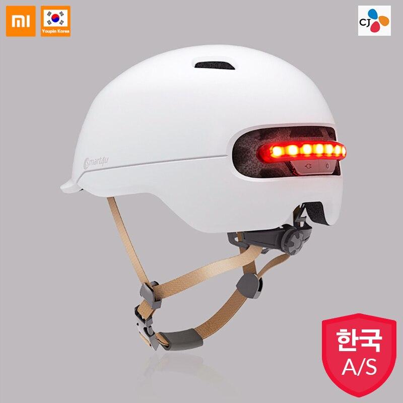Nouveau Xiaomi Smart4u étanche vélo Smart Flash casques mat longue utilisation casque rétro lumière montagne route Scooter pour hommes femmes