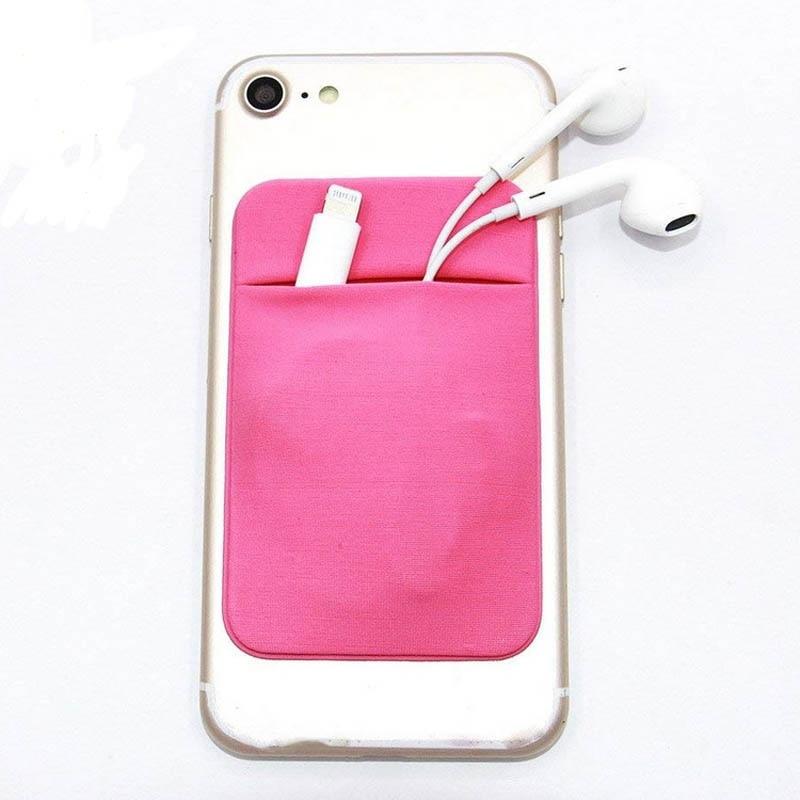 Эластичный Lycra клей сотовый телефон бумажник чехол кредитной ID держатель для карт стикеры карман