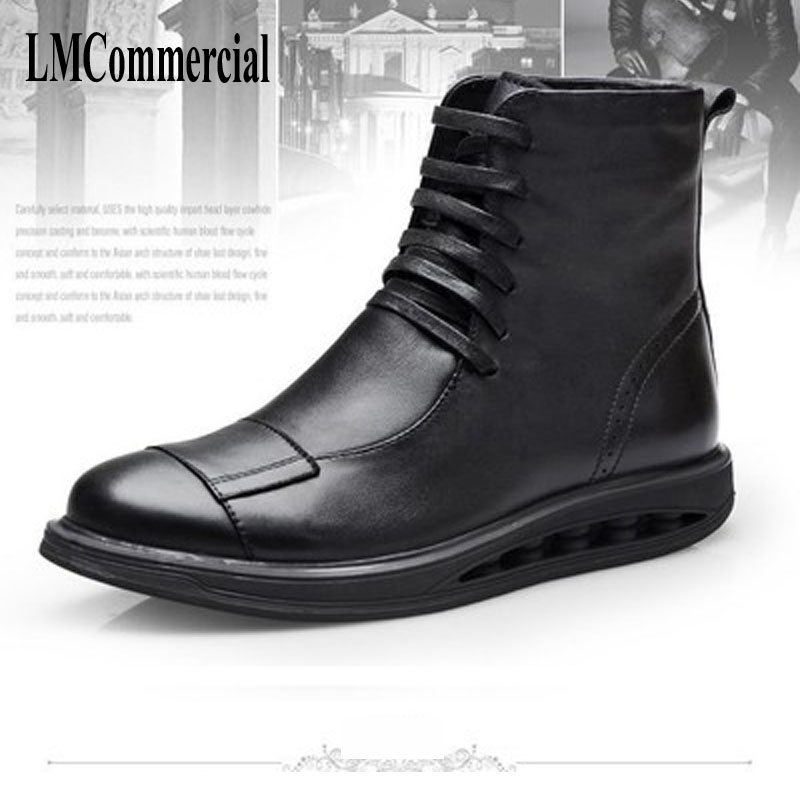Men's leather boots with oak lion velvet Martin boots high shoes autumn winter British retro men shoes leather shoes breathable 2017 new autumn winter british retro men shoes zipper leather breathable sneaker fashion boots men casual shoes handmade