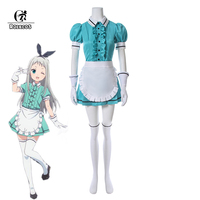ROLECOS Japanese Anime Blend S Cosplay Costume Sakuranomiya Kanzaki Hideri Cafe Sadistic Maid Uniform Women Cosplay