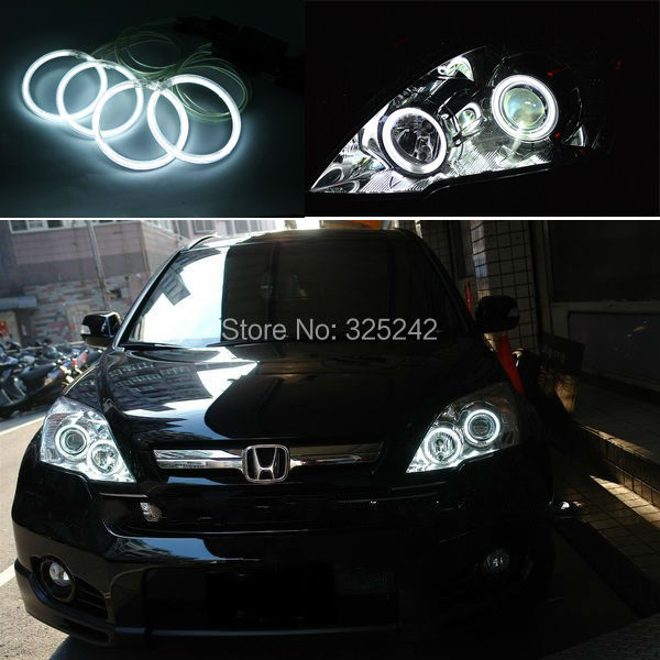 Для Honda CRV CR-V 2007 2008 2009 2010 Отлично Ultrabright лампы подсветки CCFL Angel Eyes kit Halo angel eyes Кольцо