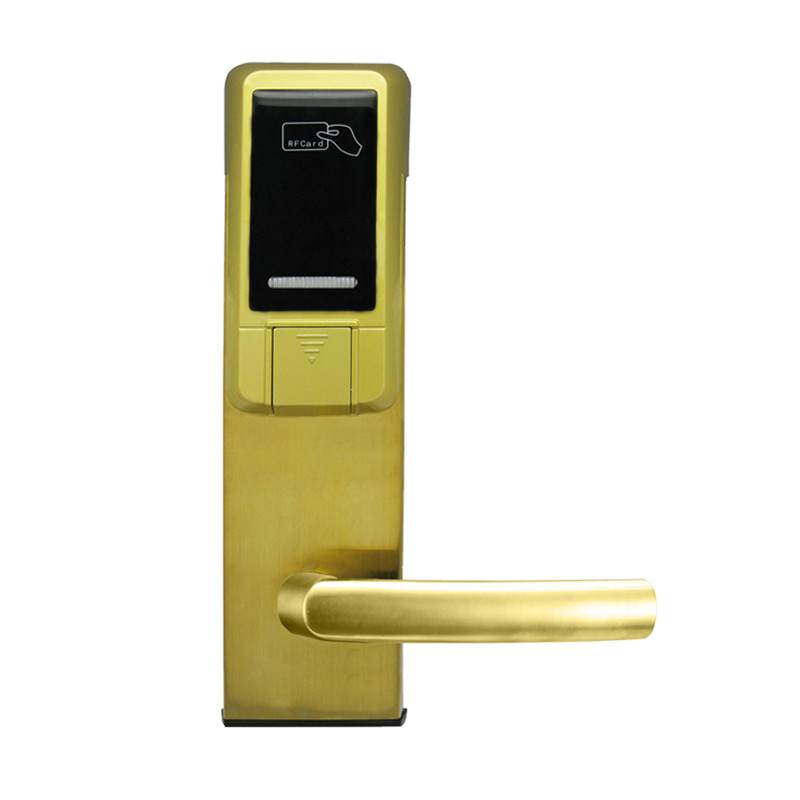 Electronic RFID Card Door Lock with Key Electric Lock For Home Hotel Apartment Office Smart Entry lk18ES5MG access control lock metal mute electric lock rfid security door lock em lock with rfid key card reader for apartment hot sale