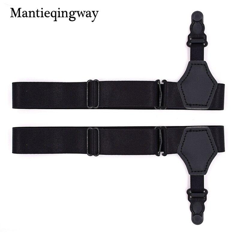 Mantieqingway 1 Pair Men's Sock Garters Suspensorio Resistance Belt Tirantes Hombre Business Suspenders Male Sock Holders