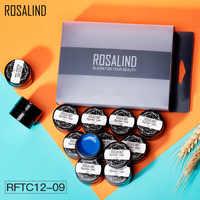 ROSALIND 12PCS/Set Painting Spider Shiny Gel Gel Nail Polish Set Manicure Set Stamping acrylic Nail Kit Varnish