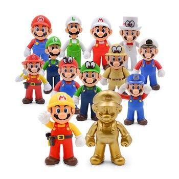 13cm Bros Luigi  Yoshi Koopa Yoshi Maker Odyssey Mushroom Toadette PVC Action Figures Toys Model Dolls