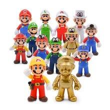 13cm Mario Bros Luigi Yoshi Koopa Maker Odyssey Mushroom Toadette PVC Action Figures Toys Model Dolls