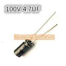 1000 шт. 4.7 мкФ 100 В электролитический конденсатор 100 В 4.7 мкФ Алюминий электролитический конденсатор 5x11 мм