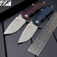 Eafengrow CH3003 Folding Knife AUS 8 Steel Blade TC4 Titanium Alloy Handle Camping Knife Outdoor EDC