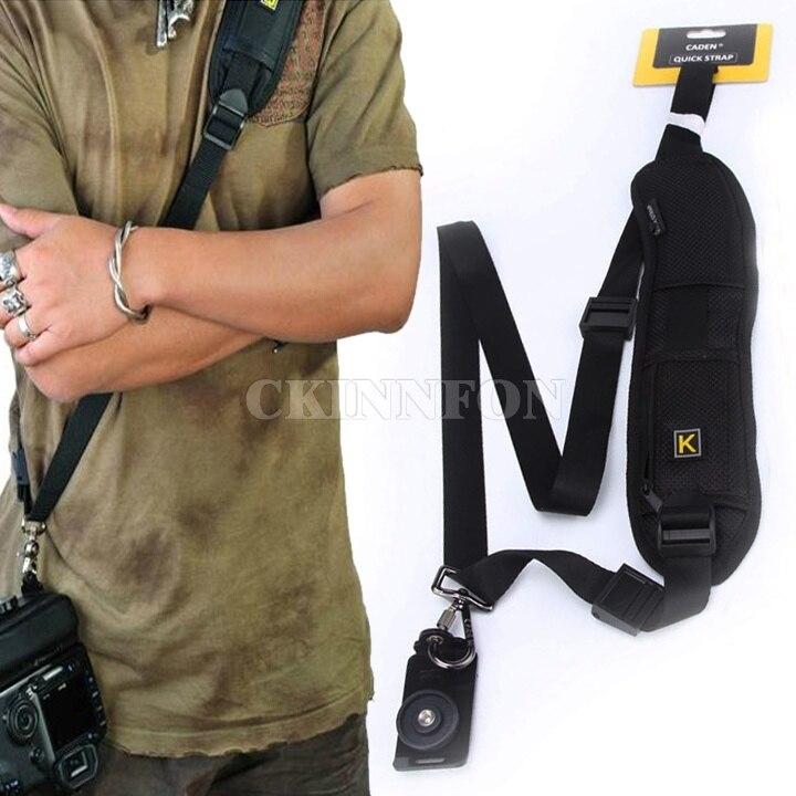 DHL 50PCS New Convenient Quick Rapid Camera Single Shoulder Sling Belt Strap Black for SLR DSLR