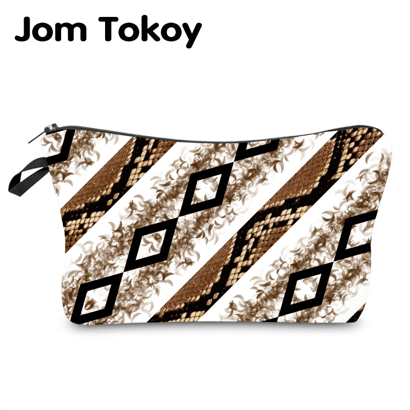 Jom Tokoy Water Resistant Makeup Bag Printing Leopard Cosmetic Bag Organizer Bag Women Multifunction Beauty Bag Hzb973