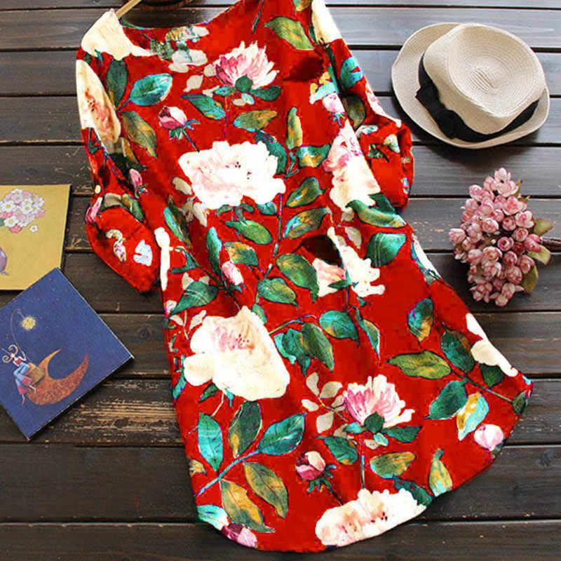 Zanzea Vadim Vestidos Mujer Polyester Jurk Vrouwen Direct Selling Gratis Verzending 2020 Nieuwe Katoen Linnen Vrouwelijke Zoete Print Dames