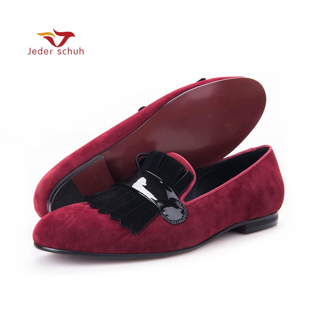 Мужские лоферы; мужские классические свадебные туфли с большой бахромой; обувь для банкета; цвет красный, черный; очаровательные мужские ло
