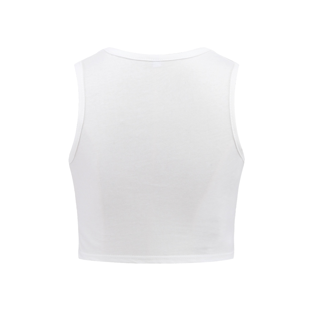 ab5a57690c3 Cropped Bralette Top Jewel Neck Teen Girl Apparel Bodybuilding Woman Summer  Tops 2017 sleeveless white Crop Top UH HUH HONEY-in Tank Tops from Women s  ...