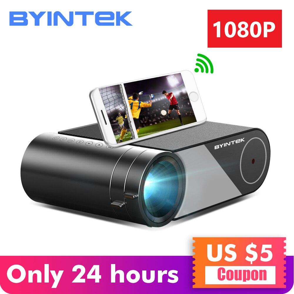 BYINTEK CÉU K9 720P 1080P LED Portátil Micro HD Mini Projetor de Cinema Em Casa (Opcional Multi-Tela para O Iphone Ipad Telefone Tablet)